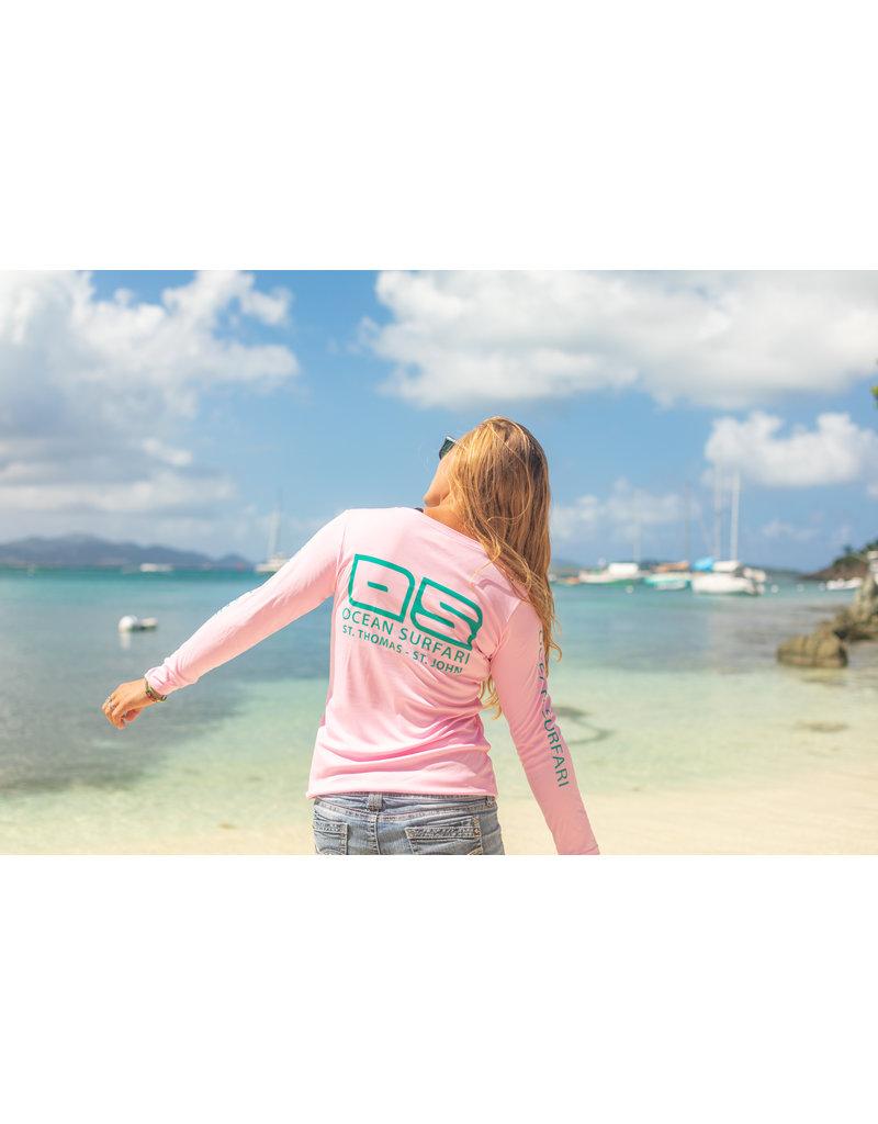 Ocean Surfari OS SPF 50+ Performance Lad LS Lt Pink