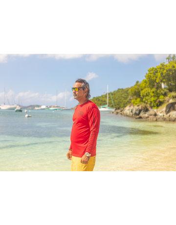 Ocean Surfari OS SPF 50+ Performance Men's LS Red