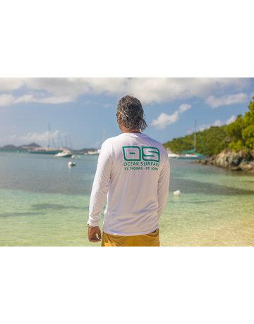 Ocean Surfari OS SPF 50+ Performance Men's LS White