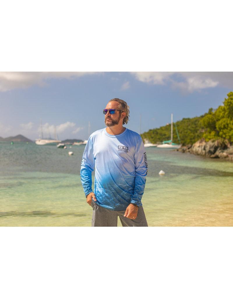 Ocean Surfari OS SPF 50+ Performance Men's LS Metallic