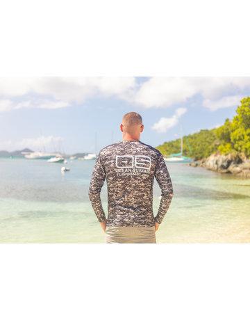 Ocean Surfari OS SPF 50+ Performance Men's LS Digi Camo Black