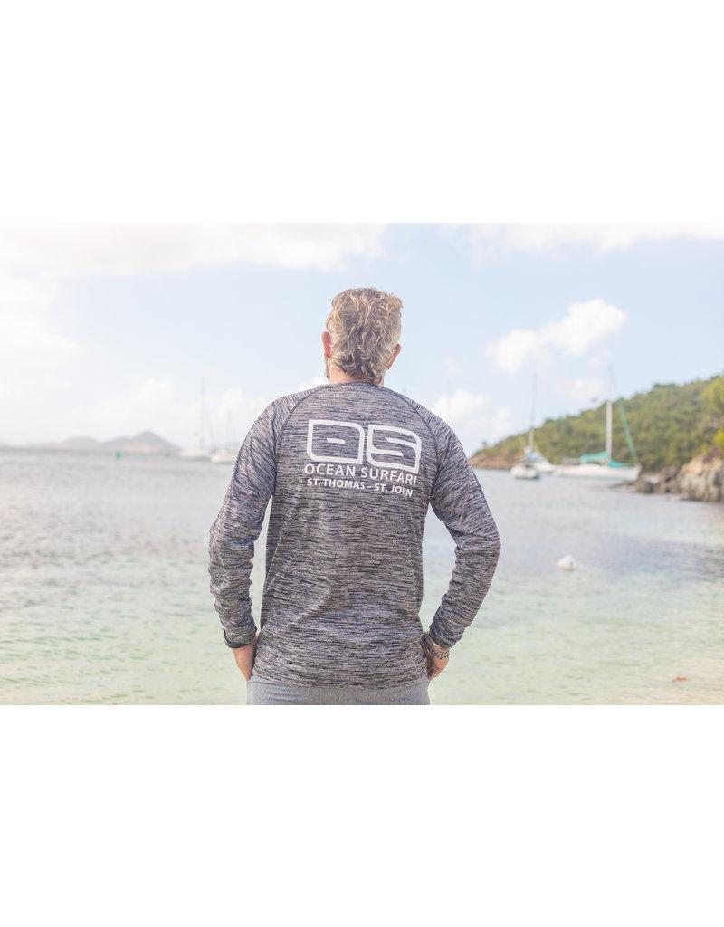 Ocean Surfari OS SPF 50+ Performance Men's LS Space Black BAW