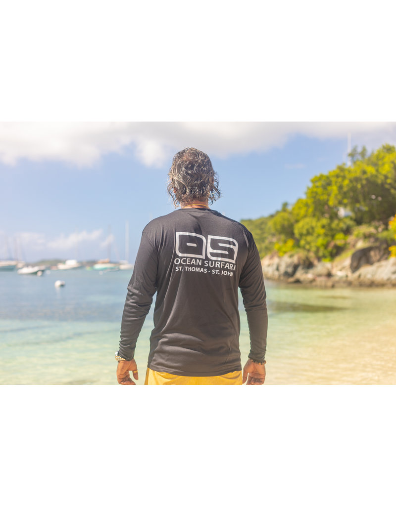Ocean Surfari OS SPF 50+ Performance Men's LS Black