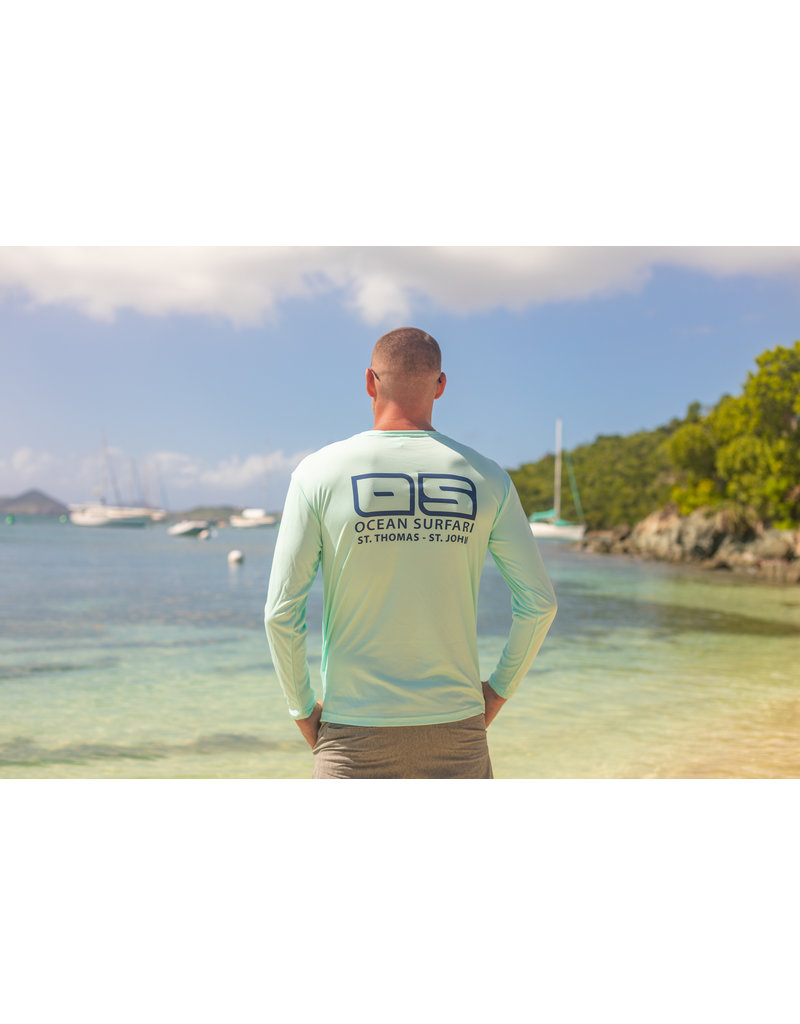 Ocean Surfari OS SPF 50+ Performance Men's LS Seafoam