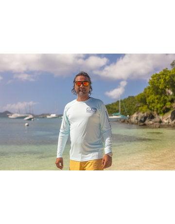 Ocean Surfari OS SPF 50+ Performance Men's LS Ice Blue