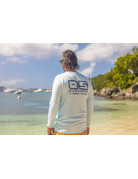 Ocean Surfari OS SPF 50+ Performance Men's LS Ice Blue
