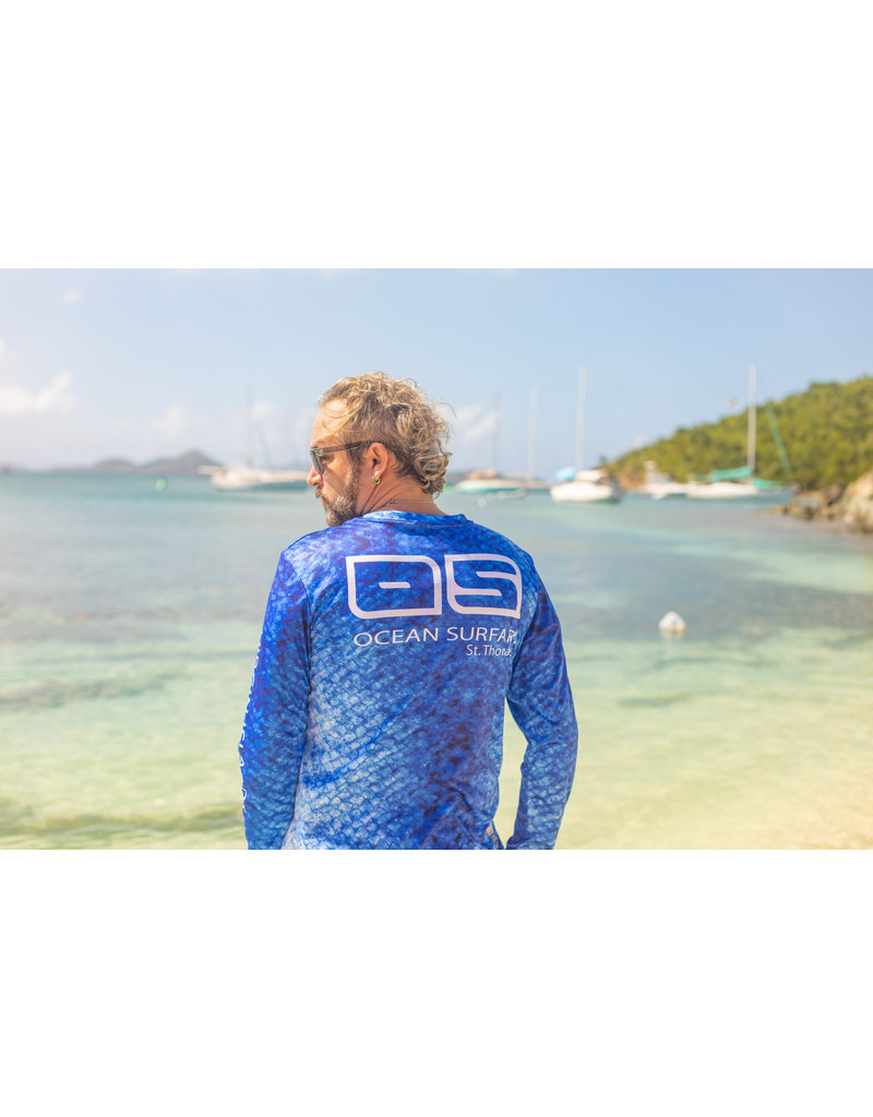 Ocean Surfari OS SPF 50+ Performance Men's LS Marlin Skin