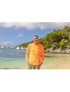 Ocean Surfari OS SPF 50+ Performance Men's LS Safety Orange