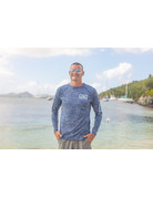 Ocean Surfari OS SPF 50+ Performance Men's LS Space Navy BAW