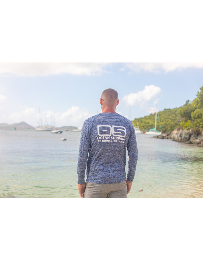 Ocean Surfari OS SPF 50+ Performance Men's LS Space Navy