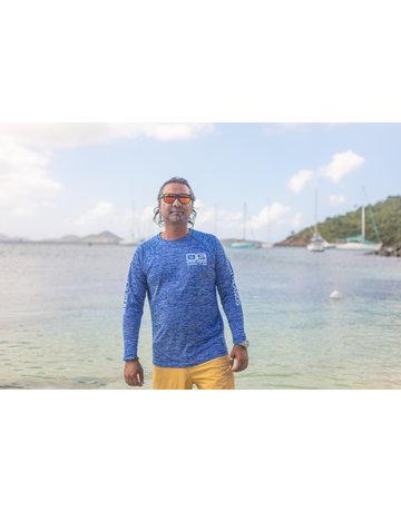 Ocean Surfari OS SPF 50+ Performance Men's LS Space Royal BAW