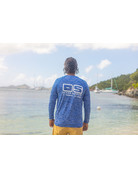 Ocean Surfari OS SPF 50+ Performance Men's LS Space Royal BAW