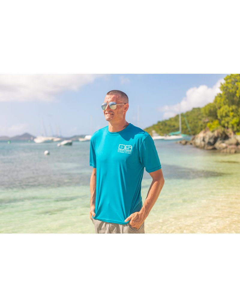 Ocean Surfari OS SPF 50+ Performance Men's SS Teal