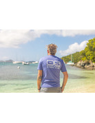 Ocean Surfari OS SPF 50+ Performance Men's SS Heather Royal