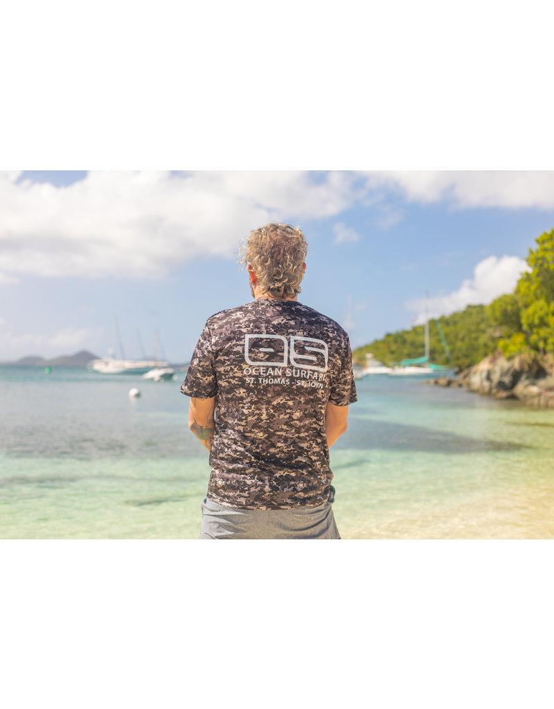 Ocean Surfari OS SPF 50+ Performance Men's SS Digi Camo Black