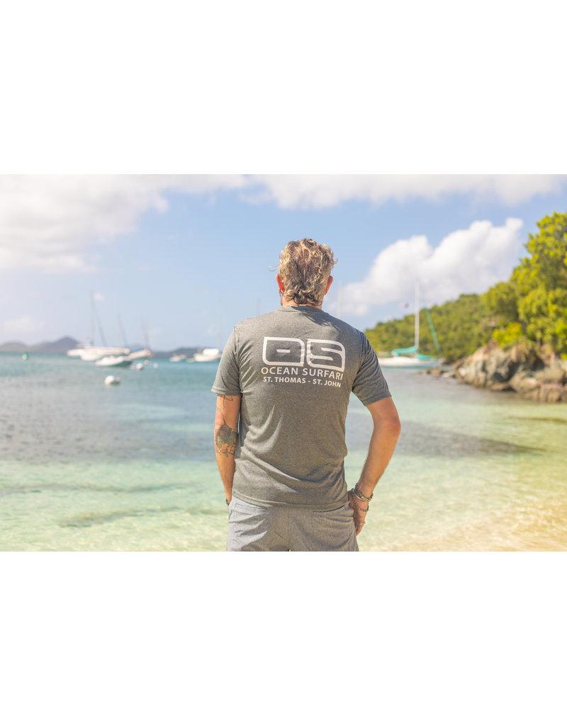 Ocean Surfari OS SPF 50+ Performance Men's SS Heather Black