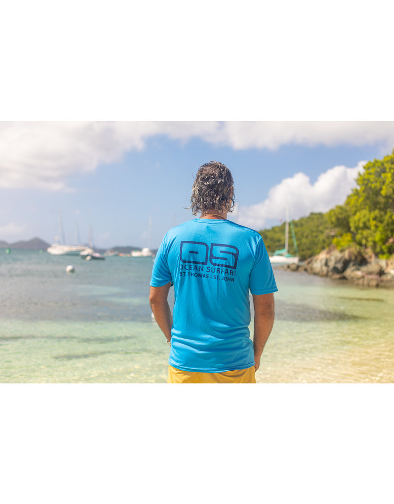 Ocean Surfari OS SPF 50+ Performance Men's SS Col Blue