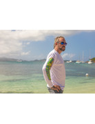 Ocean Surfari Copy of OS SPF 50+ Performance Men's LS Mahi-White