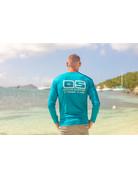 Ocean Surfari OS SPF 50+ Performance Men's LS Teal