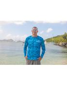 Ocean Surfari OS SPF 50+ Performance Men's LS Digi Camo Blue