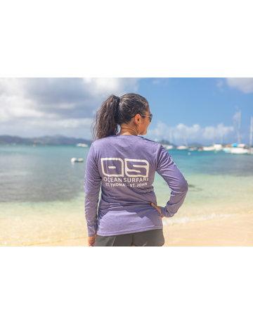 Ocean Surfari OS SPF 50+ Performance Lad LS Heather Purple