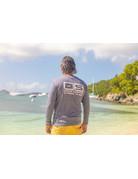 Ocean Surfari OS SPF 50+ Performance Men's LS Heather Navy