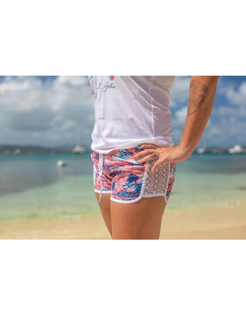 Raya Sun RS Palm Tree Lace Coral