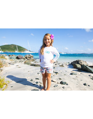 Ocean Surfari OS SPF 50+ Performance Youth LS White