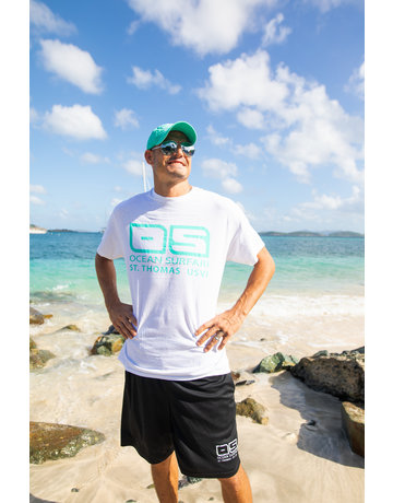 Ocean Surfari Hat/Shirt Combo Seafoam/White