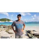 Ocean Surfari Hat/Shirt Combo Royal / Grey