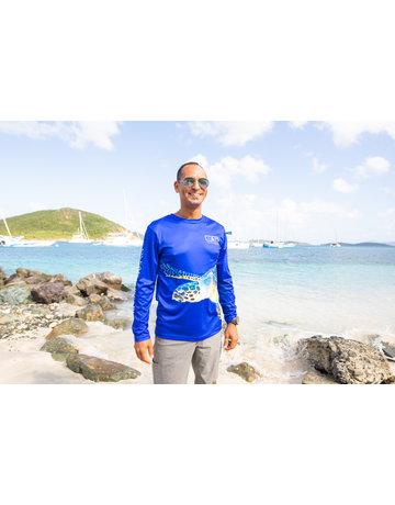 Ocean Surfari OS SPF 50+ Performance Men's LS Turtle