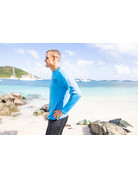 Ocean Surfari OS SPF 50+ Performance Men's LS Col Blue