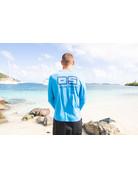 Ocean Surfari OS SPF 50+ Performance Men's LS Col Blue