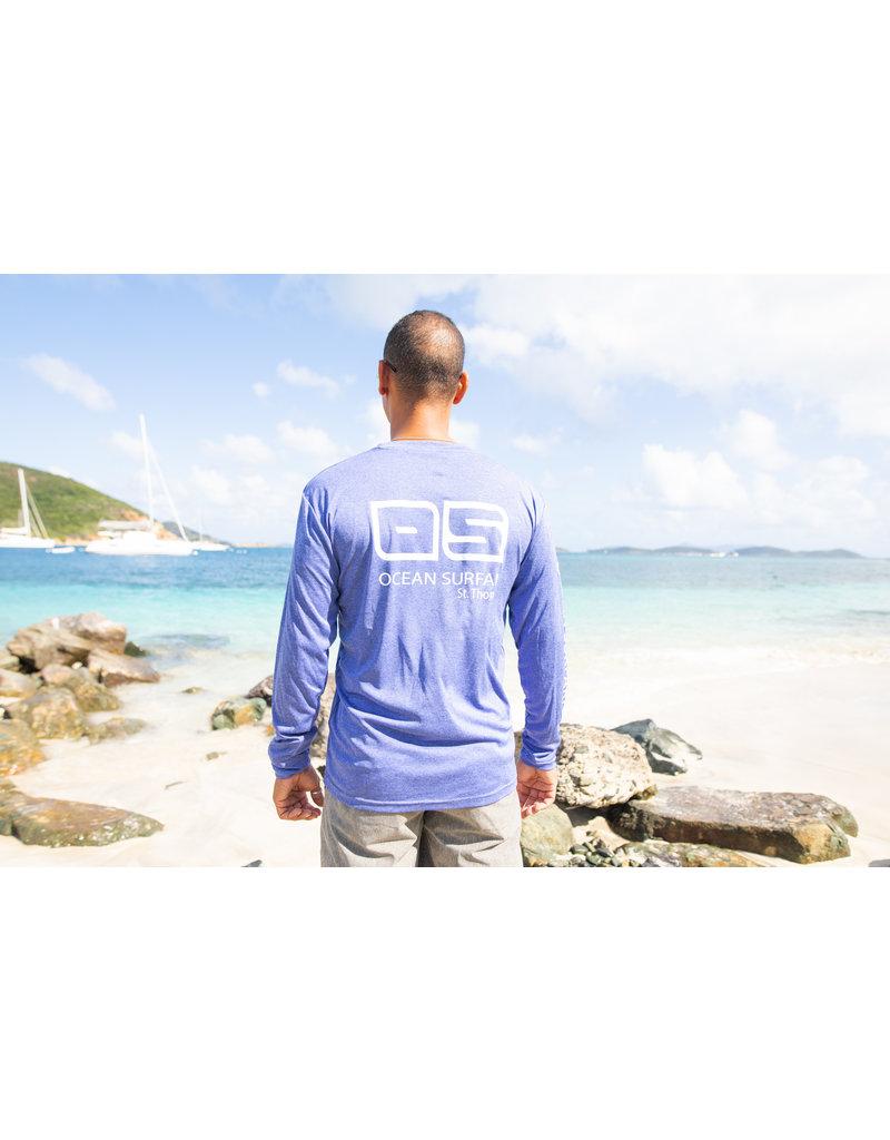 Ocean Surfari OS SPF 50+ Performance Men's LS Heather Royal
