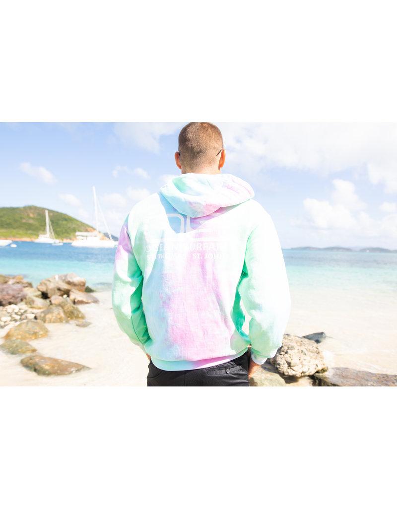 Ocean Surfari O/S Unisex Tie-Dye P/O Hoodie Seafoam