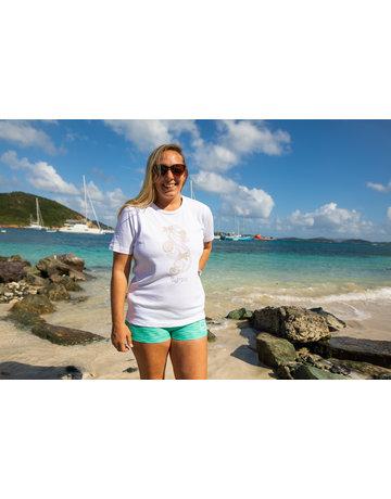 Ocean Surfari OS Missy SS Scoop White Seahorse