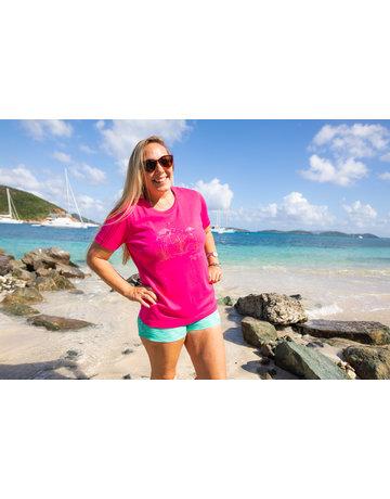 Ocean Surfari OS Missy SS Scoop Fuchsia Flamingo