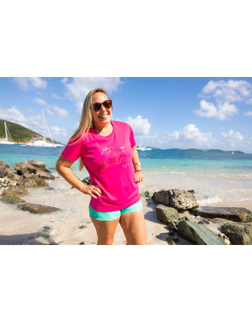 Ocean Surfari OS Missy SS Scoop Fushia Flamingo