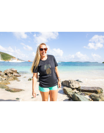 Ocean Surfari OS Missy SS Scoop Black Pineapple