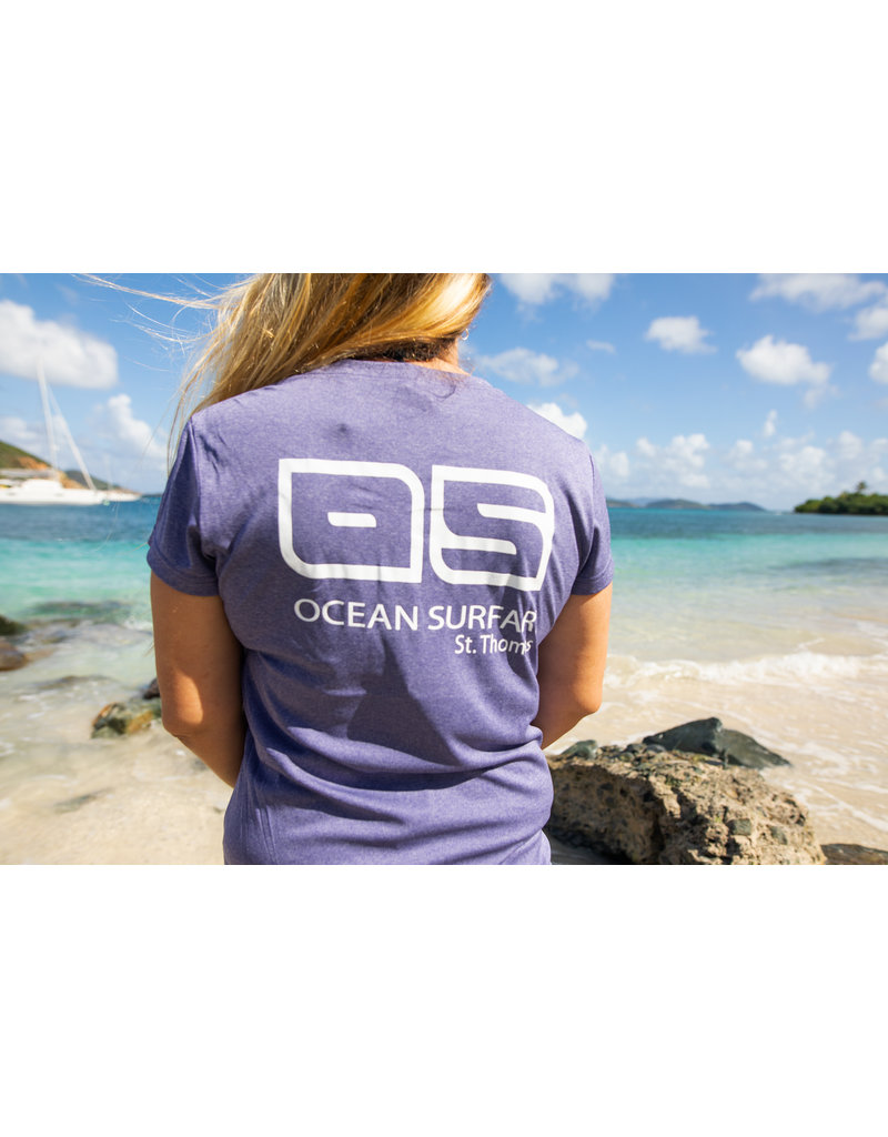 Ocean Surfari OS SPF 50+ Performance Lad SS Heather Purple