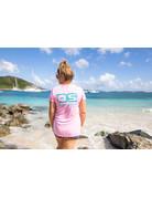 Ocean Surfari OS SPF 50+ Performance Lad SS Lt Pink