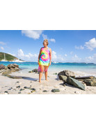 Ocean Surfari O/S Tie-Dye Fringe Beach Dress Multi