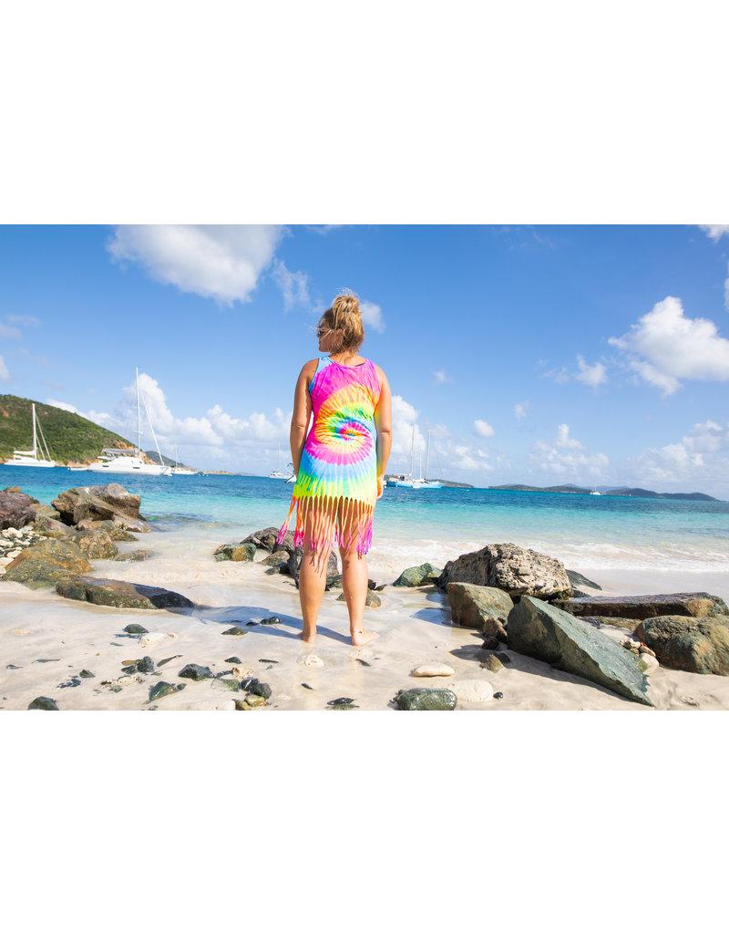 Ocean Surfari O/S Tie-Dye Razor Beach Dress Multi