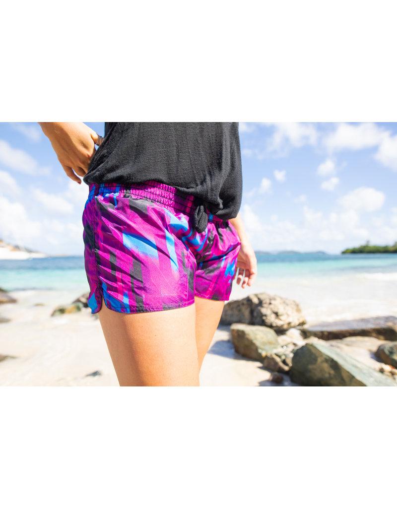 Raya Sun RS Reversible Tafetta Shorts Blue