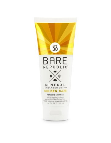 Bare Republic Bare Min. Shimmer SPF 30 Golden Lotion