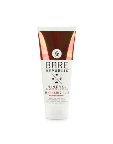 Bare Republic Bare Min. Shimmer SPF 30 Rose Lotion