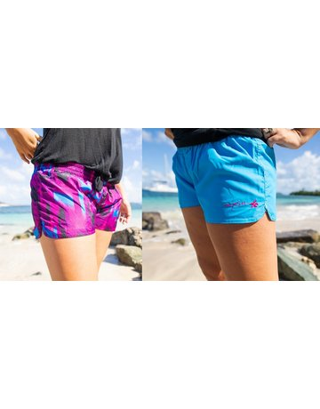 Raya Sun RS Reversible Tafetta Shorts Blue