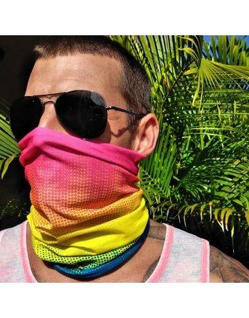 Ocean Surfari Ombre Rainbow Sun Shield Buff