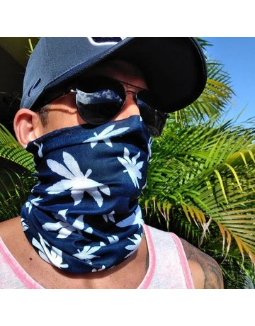 Ocean Surfari Leaves Navy Sun Shield Buff
