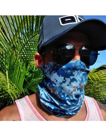 Ocean Surfari Blue Camouflage Sun Shield Buff